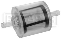 Click for a larger picture of Facet Clear Fuel Filter, 5/16 Hose to 5/16 Hose, 74 Micron
