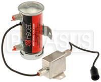 Click for a larger picture of Facet Cylindrical 24v Fuel Pump, 1/4 NPT Male, 6-8 psi, EMI