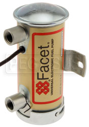 Click for a larger picture of Facet Cylindrical Style 24 Volt Fuel Pump, 6 to 8 max psi