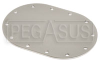 Click for a larger picture of Fuel Safe Small Oval Blank Plate, 12 Bolt, 4x6