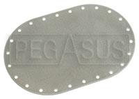 Click for a larger picture of Fuel Safe Large Oval Blank Plate, 24 Bolt, 6x10