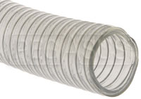 "Click for a larger picture of Fuel Safe 2.25"" Wire Reinforced Clear Filler Hose, Per Foot"