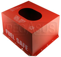 Click for a larger picture of Fuel Safe Steel Container for 17 Gallon Cell, Bottom Flange