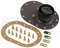 "Click for a larger picture of Fuel Safe 4x6 Standard Fill Plate with 2.5"" Threaded Cap"