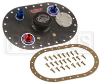Click for a larger picture of Fuel Safe 6x10 Standard Fill Plate with Dual 8AN Pick-up