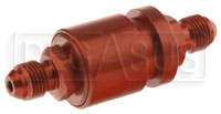 Click for a larger picture of Fuel Cell Pressure Relieving Vent Valve, In-Line, 6AN Male