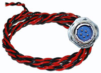 Click for a larger picture of Sealed Male 4 Wire Fuel Pump Harness, Inside Tank