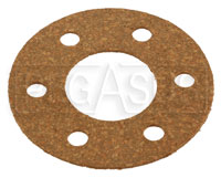 "Click for a larger picture of Fuel Safe Round Gasket, 6 Bolt, 2"" Bolt Circle"