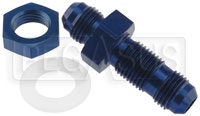 Click for a larger picture of 6AN Straight Bulkhead Fitting with Nut and Nylon Washer