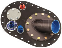 Click for a larger picture of Fuel Safe 6x10 Fill Plate, Offset w/ 45 deg Remote Filler