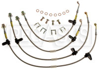 Click for a larger picture of G-Stop Brake Line Set, 92-95 Honda Civic- Rear Disc, no ABS