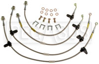Click for a larger picture of G-Stop Brake Line Set, 92-95 Honda Civic - Rear Disc (ABS)