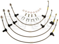 Click for a larger picture of G-Stop Brake Line Set, 90-93 Acura Integra (all models)