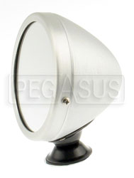 Click for a larger picture of Reproduction Aluminum Vintage Mirror, Flat Lens