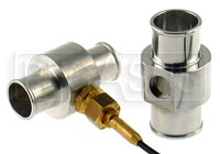 "Click for a larger picture of Inline Temp Gauge Adapter for 1.19"" (30mm) Hose, w/ 3/8 BSP"