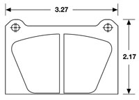 Click for a larger picture of Ferodo Brake Pad, Sports 2000, AP/Lockheed LD65 4 Piston