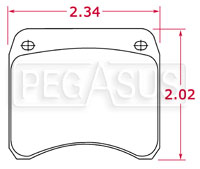 Click for a larger picture of Hawk Brake Pads, FF, Lockheed LD19 (CP2195, PD26/11)