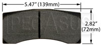 Click for a larger picture of Hawk Brake Pad: Brembo, Wilwood