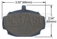 Click for a larger picture of Hawk Brake Pad, Humber, MGB, SAAB, Singer (D27)
