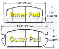 Click for a larger picture of Hawk Brake Pad, 79-85 RX7 Rears No F.I. (D235)