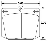 Click for a larger picture of Hawk Brake Pad, Austin, MG, Datsun, Toyota, Triumph (D2 D57)