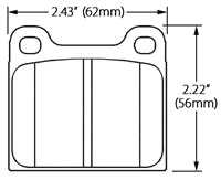 Click for a larger picture of Ferodo Brake Pad, Alfa, BMW, Porsche, VW (D58)