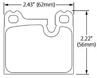 Click for a larger picture of Hawk Brake Pad, Alfa, BMW, Porsche, Volvo (D31, D58, D861)