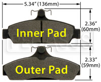 Click for a larger picture of Hawk Brake Pad: 84-87 Corvette 5.7L (D294)