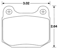 Click for a larger picture of Hawk Brake Pad, Alfa, BMW, Lotus, Nissan (D109, D174, D961)