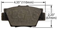 Click for a larger picture of Hawk Brake Pad: Acura NSX rear (D504)