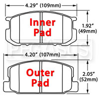 Click for a larger picture of Hawk Brake Pad, Subaru BRAT, Toyota Corolla (D282)