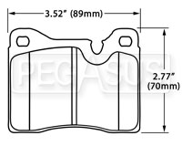 Click for a larger picture of Hawk Brake Pad, Alfa, BMW 2002, Ferrari, Lamborghini (D82)
