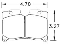 Click for a larger picture of Hawk Brake Pad, Toyota Supra Turbo (D629)