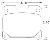 Click for a larger picture of Hawk Brake Pad, Toyota Supra Turbo rear (D630)