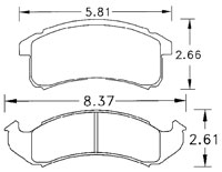 Click for a larger picture of PFC Racing Brake Pad, 94-97 Firebird /  Camaro (D623)