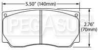 Click for a larger picture of Hawk Brake Pad, Alcon, AP, Wilwood,  Brembo NASCAR Front