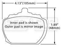 Click for a larger picture of Hawk Brake Pad, Triumph Stag, TR8 (D81)