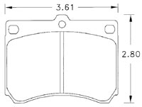 Click for a larger picture of Hawk Brake Pad, Ford Escort, Mazda, Mercury (D473)