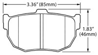 Click for a larger picture of Hawk Brake Pad, Hyundai Tiburon, Nissan Rear (D272)