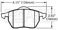 Click for a larger picture of Hawk Brake Pad, Audi, VW Passat (D555)