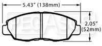 Click for a larger picture of Hawk Brake Pad, Acura, Honda (D465)