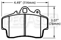 Click for a larger picture of Hawk Brake Pad, Porsche Boxster (D737)