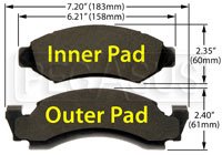 Click for a larger picture of Hawk Brake Pad: Ford Trucks, IHC Scout II (D50)