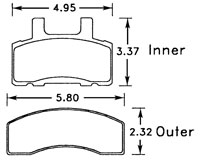 Click for a larger picture of Hawk Brake Pad, Chevy/GMC, Dodge Truck (D370)