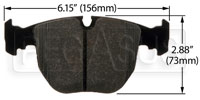 Click for a larger picture of Hawk Brake Pad: BMW (D681)