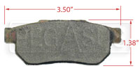 Click for a larger picture of Hawk Brake Pad, Acura, Honda Rear (D374)