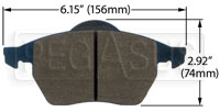 Click for a larger picture of Hawk Brake Pad: Audi, Volkswagen (D840)