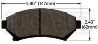 Click for a larger picture of Hawk Brake Pad: Buick, Cadillac, Chevy, Olds, Pontiac (D699)