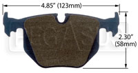 Click for a larger picture of Hawk Brake Pad: BMW Rear (D548)