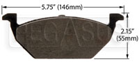 Click for a larger picture of Hawk Brake Pad: Volkswagen, Audi A3 (D768)